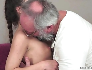 Teenie anita bellini receives screwed apart from a older man