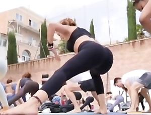 Portuguese yoga milf in niggardly leggings instagram story